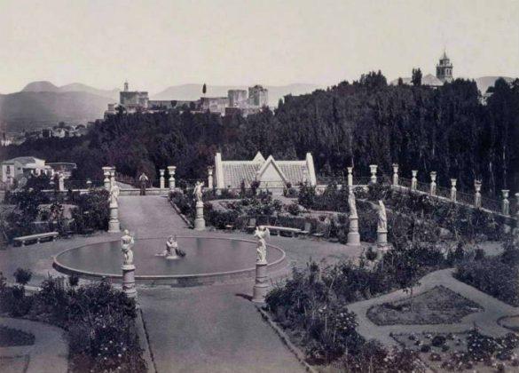 Carmen los mártires. Alameda y el jardin de Dn. Carlos Calderon