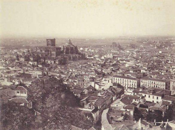 Centro de la ciudad desde Torres Bermejas. Granada. 1885-1890