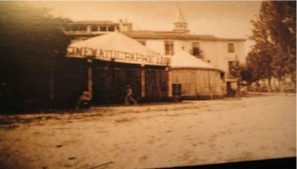 Cinematógrafo Lumiere. Plaza del Humilladero. Granada. 1897