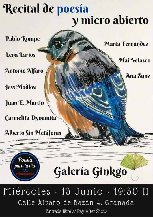 Recital de poesía y micro abierto Granada