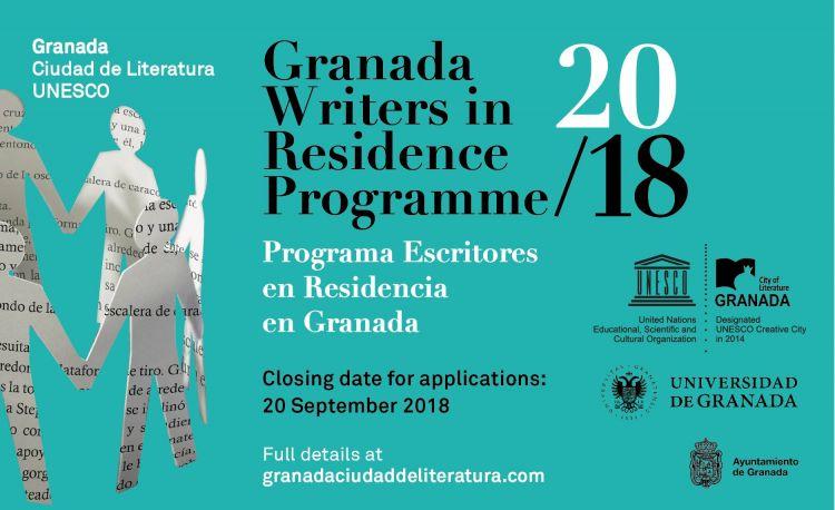 Programa Internacional de Escritores en Residencia de Granada - Septiembre 2018