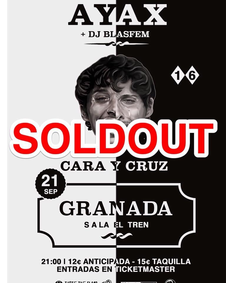 Ayax + DJ Blasfem - Sala El Tren (21/22/09/18)