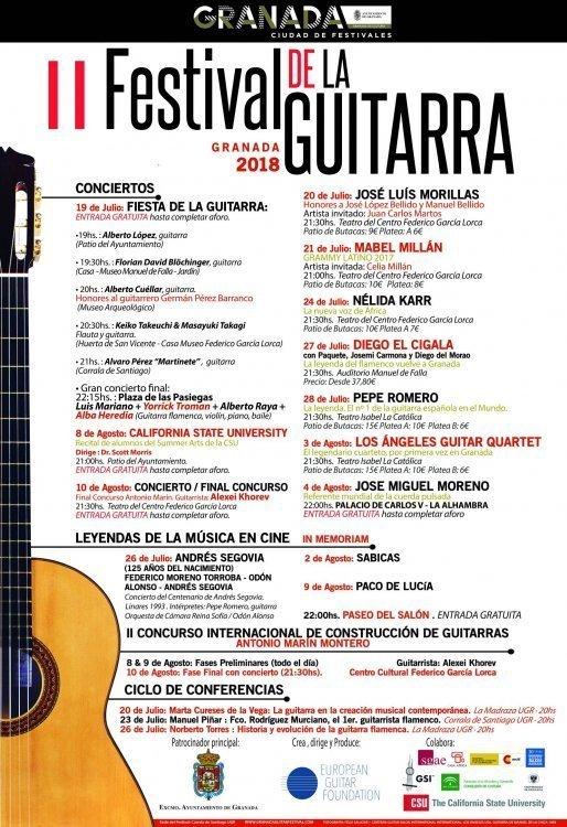 II Festival Internacional de la Guitarra de Granada