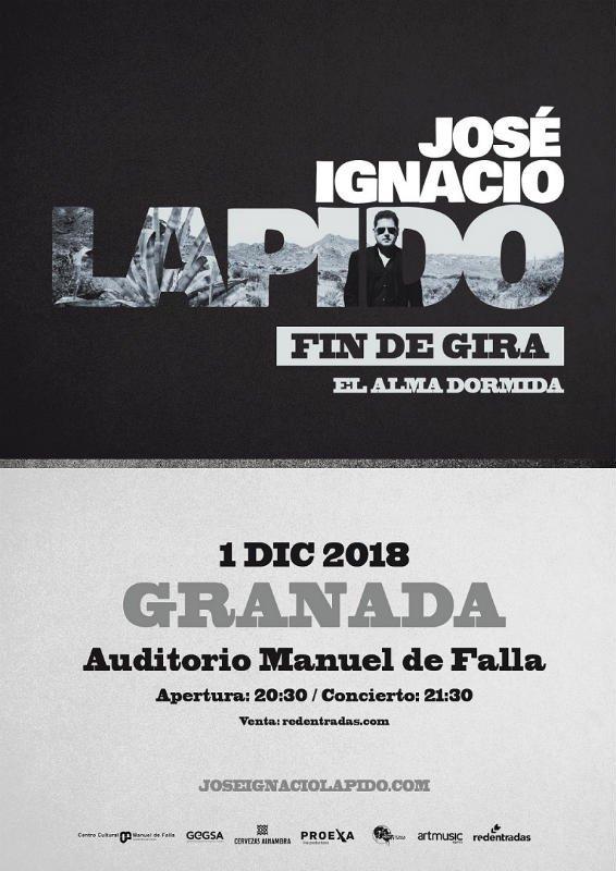 José Ignacio Lapido - Auditorio Manuel de Falla (01/12/18)