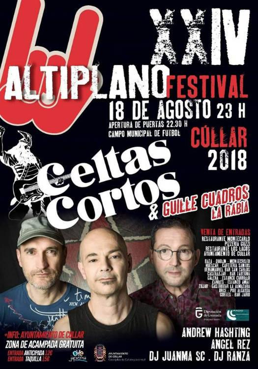 """Celtas Cortos en el """"XXIV Altiplano Festival"""" de Cúllar (18/08/18)"""