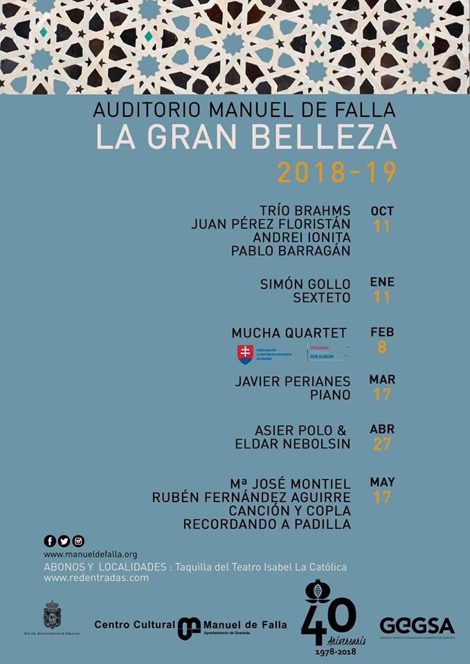 Ciclo La Gran Belleza 2018-19 - Auditorio Manuel de Falla
