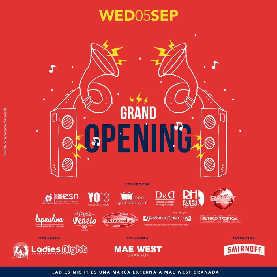 Grand Opening / Ladies Night - Mae West (05/09/18)