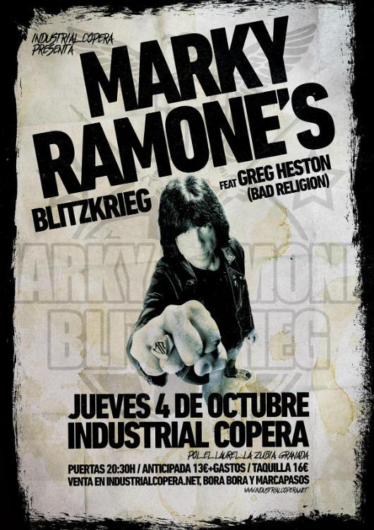 Marky Ramone´s Blitzkrieg - Industrial Copera (04/10/18)