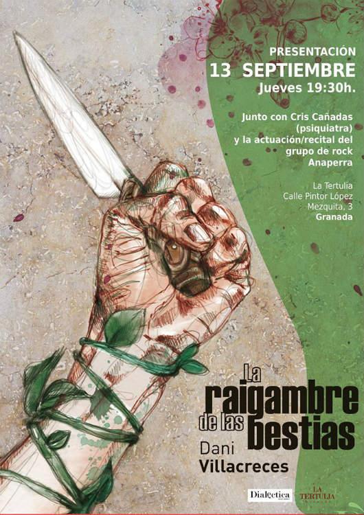 """Presentación de """"La raigambre de las bestias"""", Dani Villacreces (13/09/18)"""