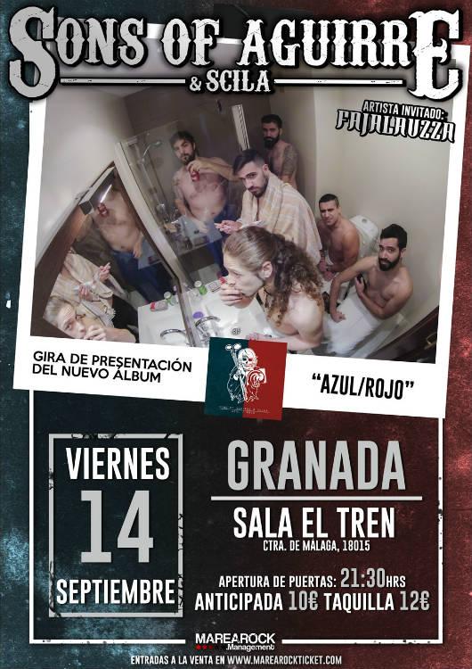 Sons of Aguirre + Scila + Fajalauzza - Sala El Tren (14/09/18)