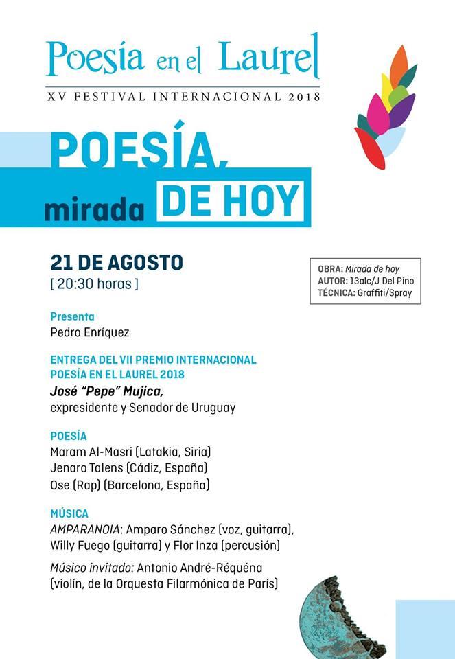 XV Festival Internacional Poesía en el Laurel 2018 (21/08/18)