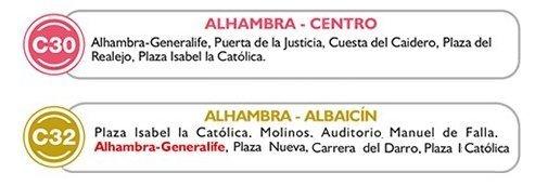 autobuses alhambra granada
