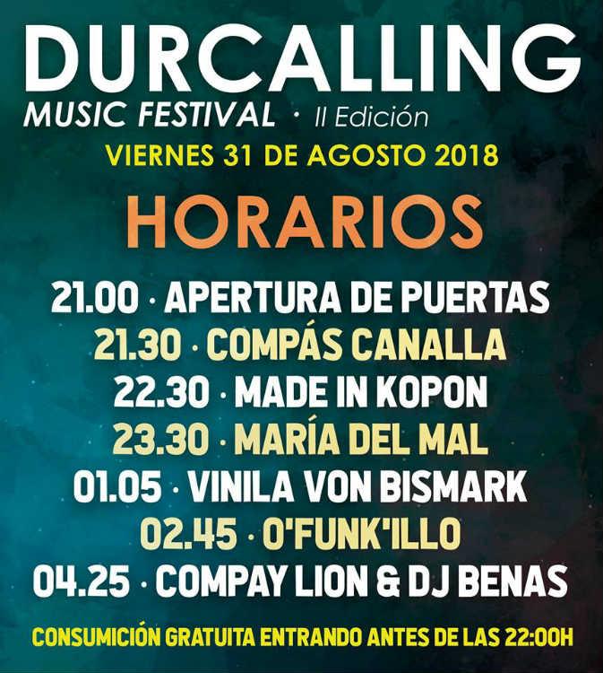 Durcalling Music Festival 2018 (31/08/18)