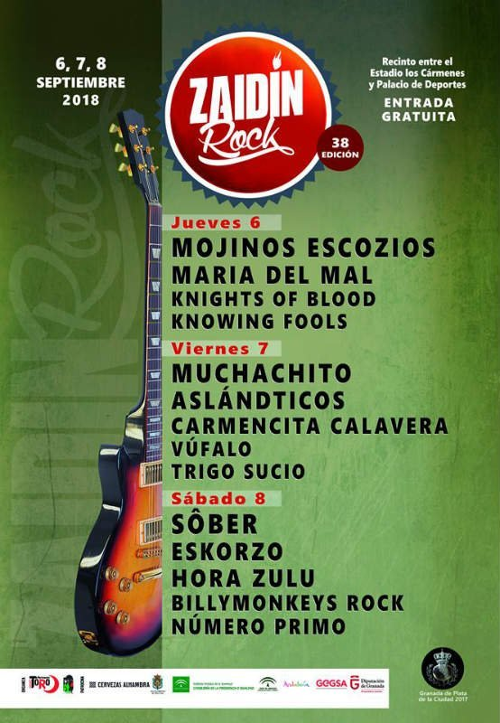Cartel Zaidin Rock 2018 Granada