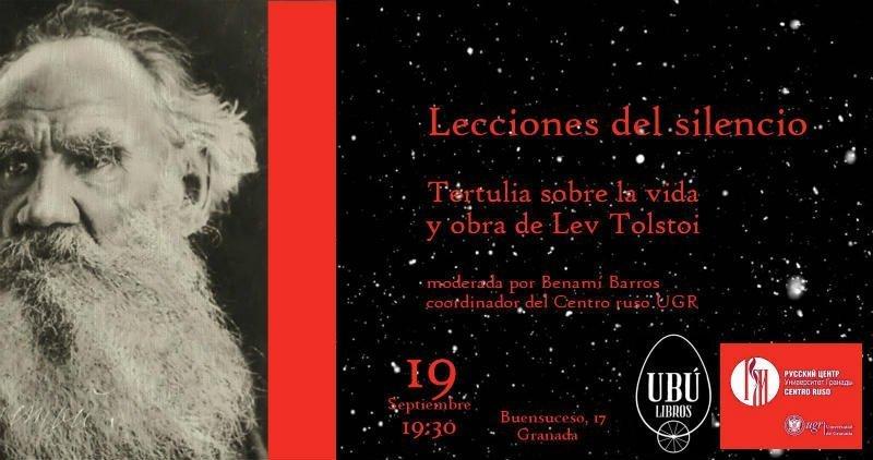 Lecciones de silencio. Tertulia sobre Lev Tolstoi - Ubu Libros (19/09/18)