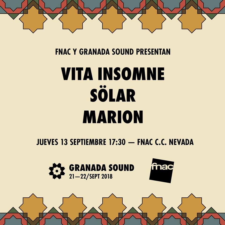 Presentación Granada Sound 2018 - FNAC Granada (13/09/18)
