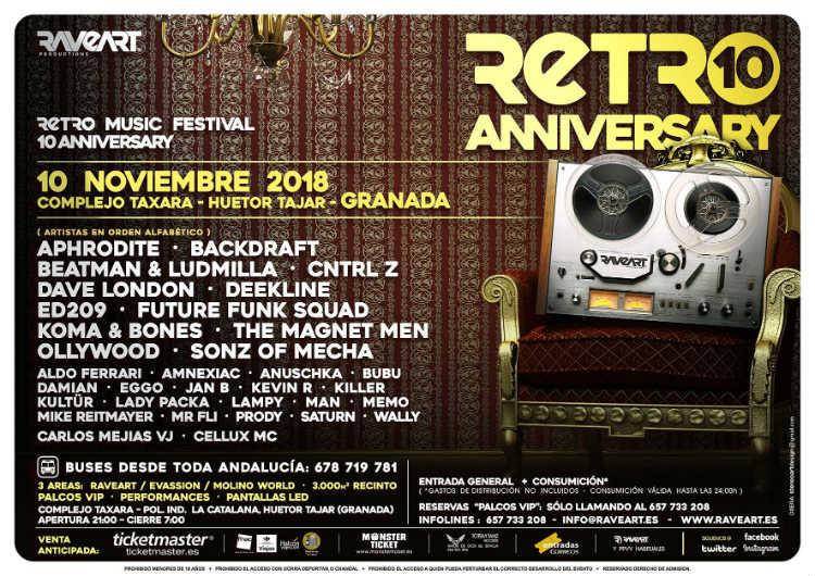 Raveart Retro Music Festival 10 Anniversary - Complejo Taxara