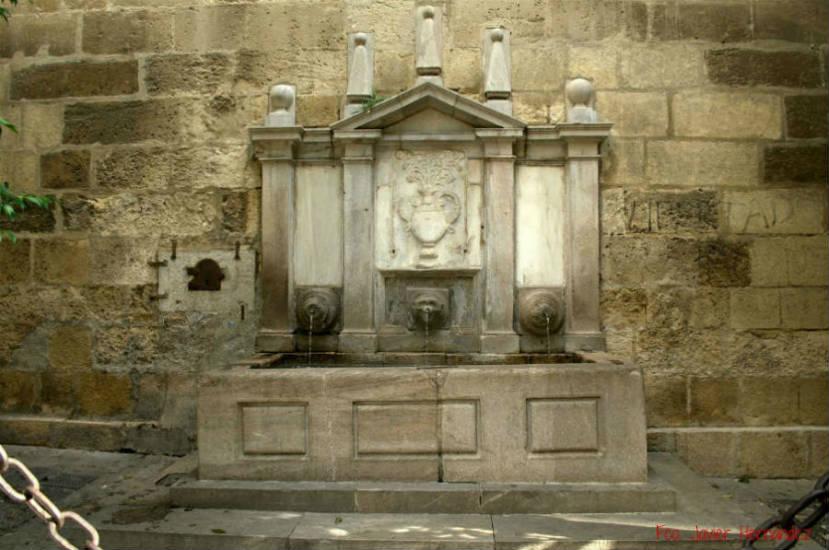 Pilar Puerta del Perdon. Catedral Granada