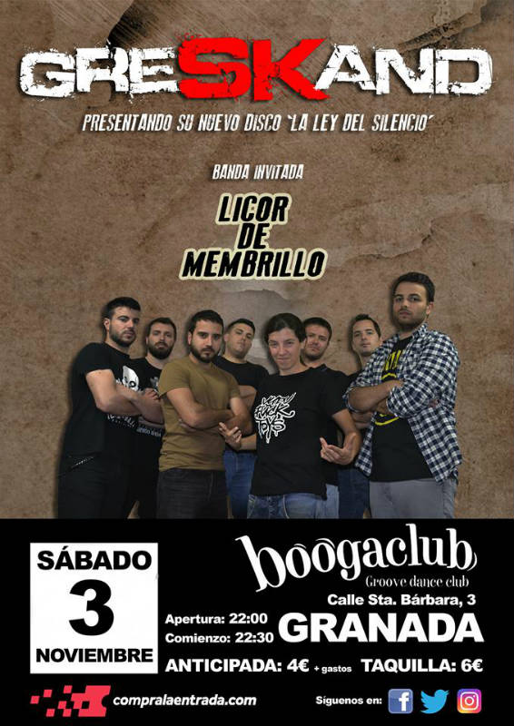 Greskand + Licor de Mebrillo - Boogaclub (03/11/18)