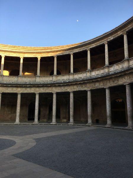 Interior del Palacio de Carlos V. Alhambra