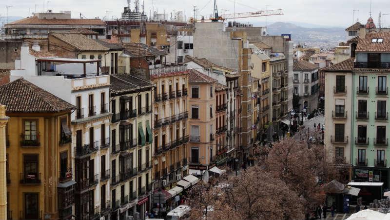 Plaza Nueva desde la Real Chancillería. Granada.