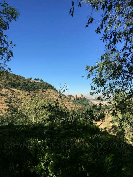 """Vista """"secreta"""" de la Alhambra."""
