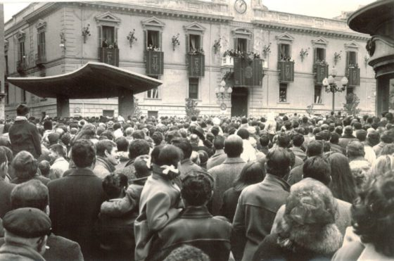 Dia de la Toma Granada. Fechada en 1966. César Girón.