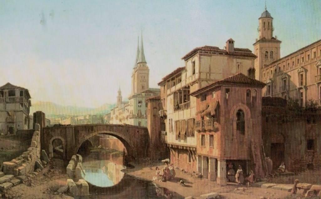 El desaparecido Puente del Álamo de Granada