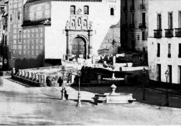El pilar de las Ninfas. Plaza de Santa Ana. Granada