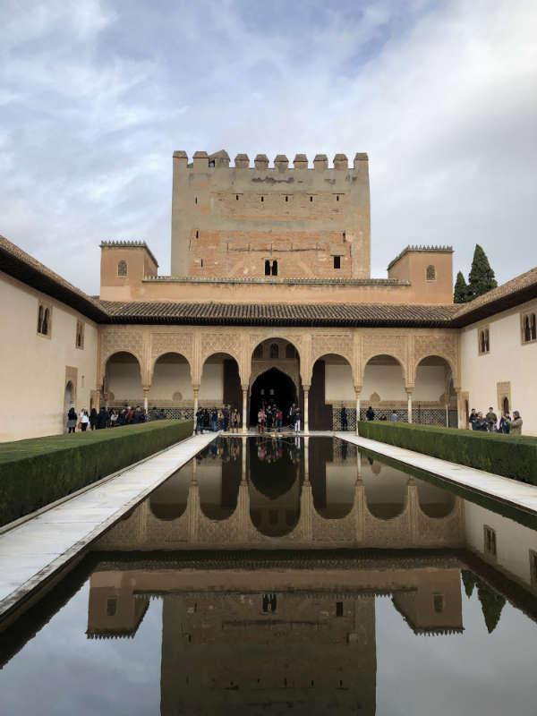 Patio de Comares en el Alhambra
