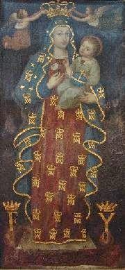Cuadro de la Virgen que estaba colocado en el arco