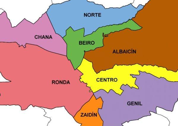 Distritos de Granada Ciudad