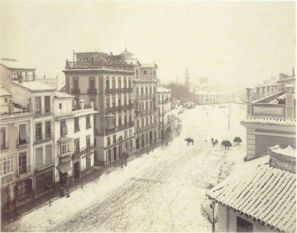 Acera del Darro. Puerta Real. 1885-1890. Granada