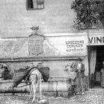 Antigua ubicación del pilar del toro en la calle Elvira Granada