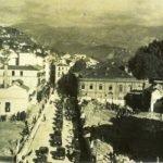 Apertura de la Calle Ganivet. Mayo. Al fondo, la Cuesta del Progreso y el edificio del Teatro Cervantes. Granada