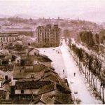 Barrio de San Lazaro, la antigua Avda. Cal Sotelo, hoy Avda. Constitucion y el Albayzin al fondo