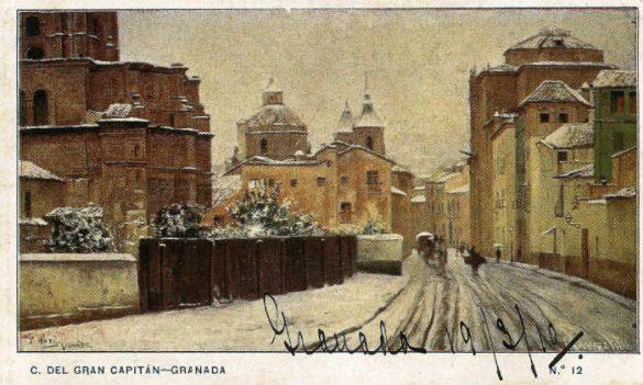 Calle Gran Capitán. Granada 1910