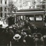 Calle Reyes Católicos esquina Gran Vía. Aprox, 1917