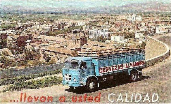 Camión Imagen publicitaria de las cervezas Alhambra