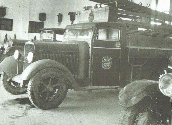 Camión de bomberos en los años 40. Granada
