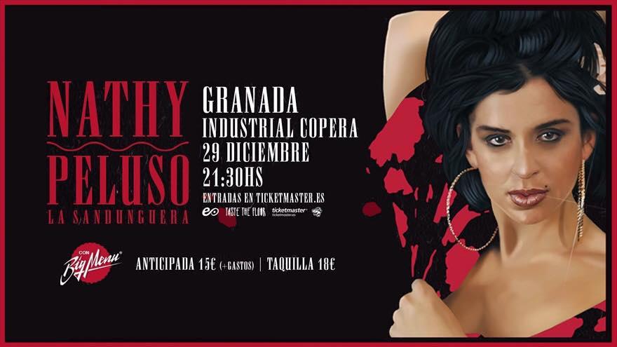 Nathy Peluso con Big Menu en Industrial Copera Granada