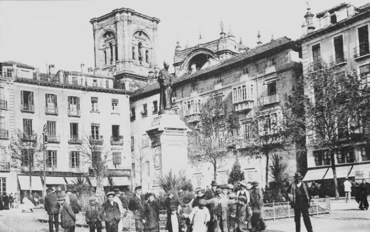 Plaza Bib Rambla en 1918 Granada