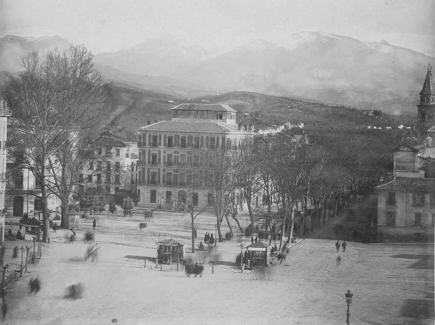 Plaza del Campillo en 1888 Granada