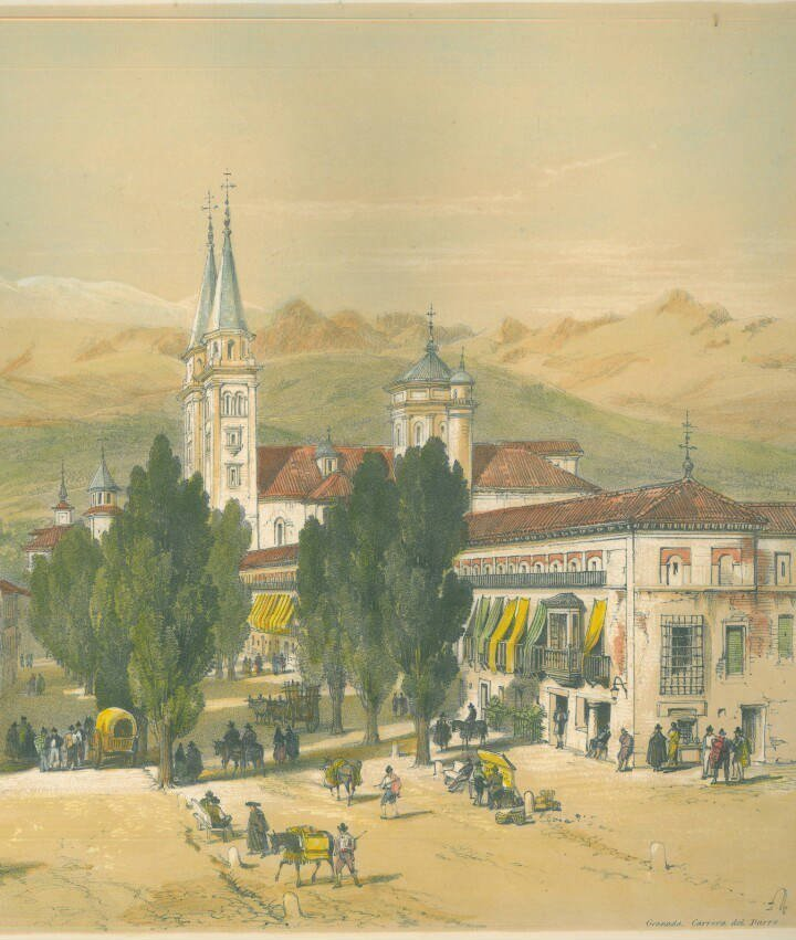 Plaza del Campillo en 1888_1835 Granada