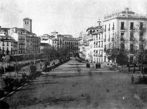 Puerta Real en 1861.