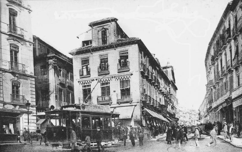 Calle Reyes Católicos en 1907 Granada por el Mundo