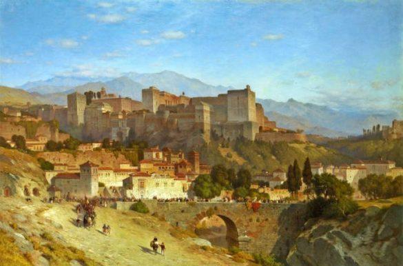 La colina de la Alhambra de Samuel Colman (1865)