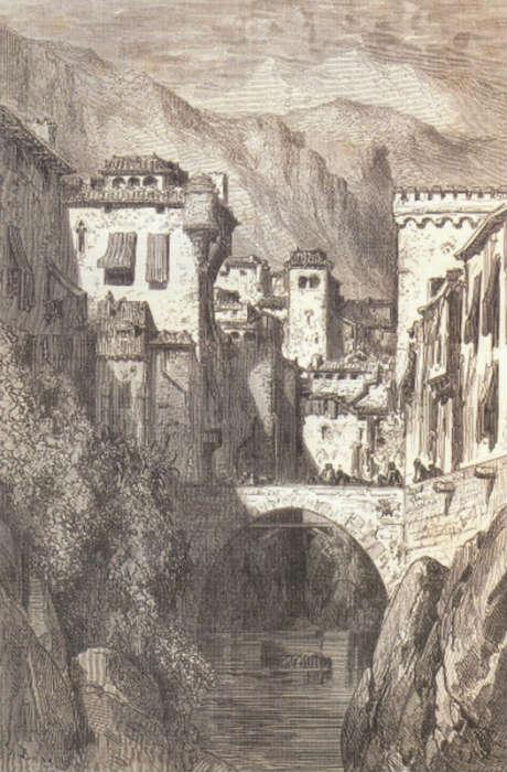 Las Orillas del Darro, por Gustavo Dore. 1862