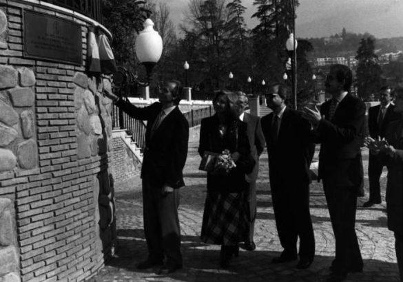 Los Reyes de España inaugurando el embarcadero del río Genil. 1995