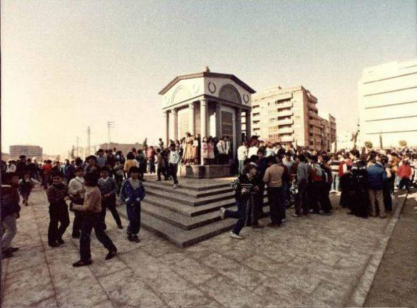 Monumento a la Constitucion en el Paseo del Violón. Ya desaparecido. Granada 1